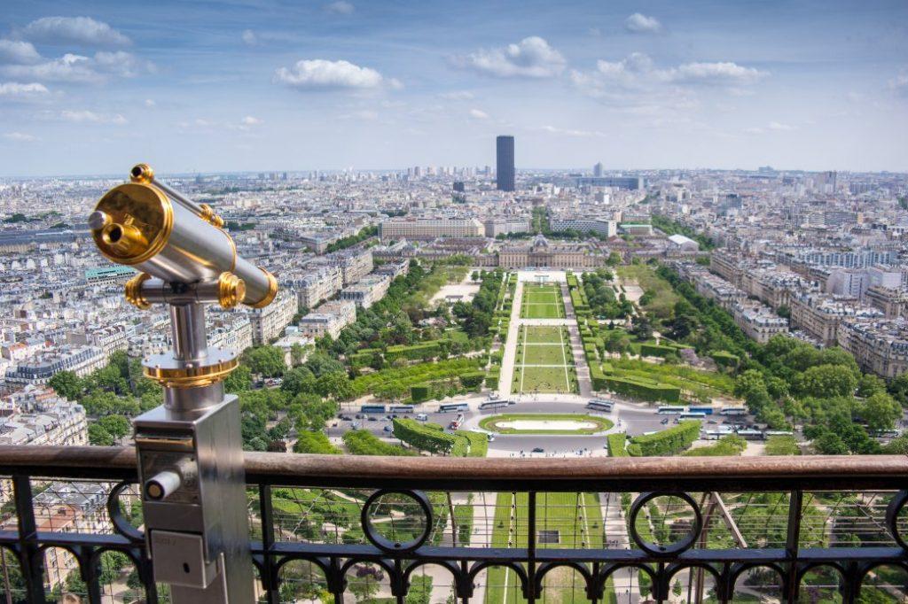 uitzicht vanaf de Eiffeltoren