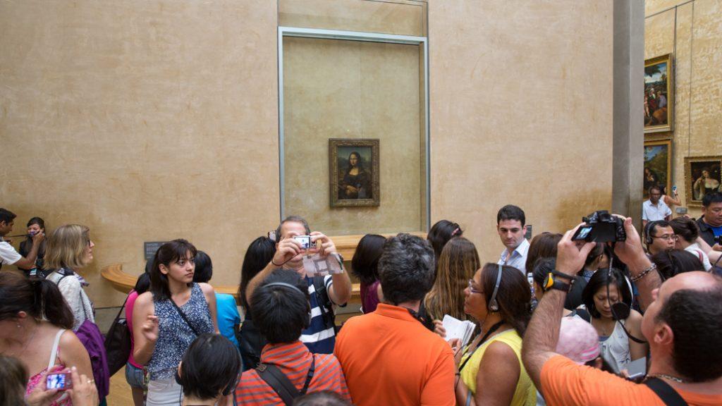 Mona Lisa in het Louvre